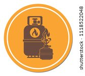 camping stove with gas bottle... | Shutterstock .eps vector #1118522048