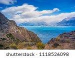 general carrera lake  carretera ... | Shutterstock . vector #1118526098