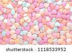 3d render. texture of a heart... | Shutterstock . vector #1118533952