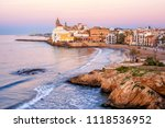 sand beach and historical old... | Shutterstock . vector #1118536952