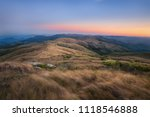 the sunset in the altitude... | Shutterstock . vector #1118546888
