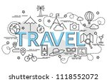 flat colorful design concept... | Shutterstock .eps vector #1118552072