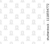 girl avatar pattern seamless...