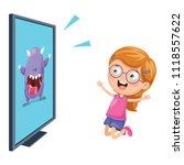 vector illustration of kid... | Shutterstock .eps vector #1118557622