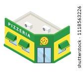 pizzeria building icon.... | Shutterstock . vector #1118563226