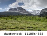 inside glacier national park ... | Shutterstock . vector #1118564588