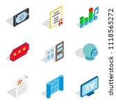 frame icons set. isometric set... | Shutterstock . vector #1118565272