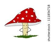 amanita mushroom  color  | Shutterstock .eps vector #111856718