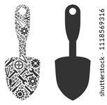 scoop shovel collage of service ...   Shutterstock .eps vector #1118569316