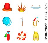 ignition timing icons set.... | Shutterstock . vector #1118570978