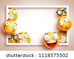 smileys background vector... | Shutterstock .eps vector #1118575502