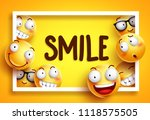 smileys vector background with... | Shutterstock .eps vector #1118575505