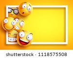 smiley background vector... | Shutterstock .eps vector #1118575508
