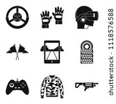 reconstruction icons set.... | Shutterstock . vector #1118576588