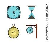 clock icon set. flat set of... | Shutterstock . vector #1118590835