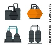 petrol reserve icon set. flat... | Shutterstock . vector #1118591648