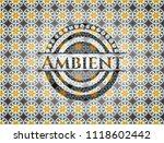 ambient arabic style emblem.... | Shutterstock .eps vector #1118602442