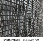 twisted wire reinforced fencing ... | Shutterstock . vector #1118604725