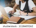 university student  asian girl... | Shutterstock . vector #1118605262