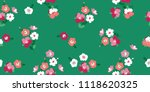 cute floral pattern in the... | Shutterstock .eps vector #1118620325