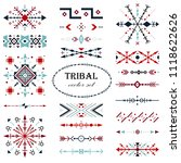 colorful traditional vector set.... | Shutterstock .eps vector #1118622626