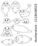 Set Of Seals Parent And Child