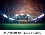 stadium in lights and flashes... | Shutterstock . vector #1118641808