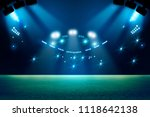 stadium in lights and flashes... | Shutterstock . vector #1118642138