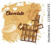 hand drawn sketch cocoa... | Shutterstock .eps vector #1118642192