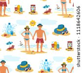 man and woman seamless pattern... | Shutterstock .eps vector #1118642606