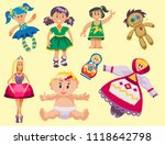 different dolls toy character... | Shutterstock .eps vector #1118642798