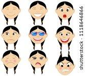 vector illustration of a child... | Shutterstock .eps vector #1118646866