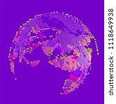 abstract vector background dot... | Shutterstock .eps vector #1118649938