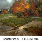 landscape  oil painting  hand... | Shutterstock . vector #1118651408