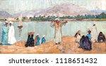 landscape  oil painting  hand... | Shutterstock . vector #1118651432