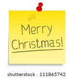 paper note with 'merry... | Shutterstock .eps vector #111865742