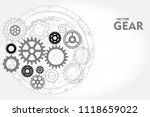 gear or cog icon abstract... | Shutterstock .eps vector #1118659022