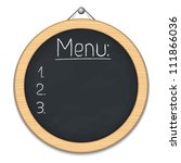 round blackboard for menu ... | Shutterstock .eps vector #111866036