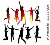 dancing silhouettes | Shutterstock .eps vector #111867206