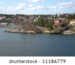 Stockholm archipelago cost - stock photo