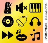 vector icon set  about music... | Shutterstock .eps vector #1118680946
