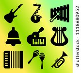 vector icon set  about music... | Shutterstock .eps vector #1118680952