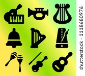 vector icon set  about music... | Shutterstock .eps vector #1118680976