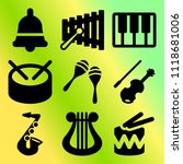 vector icon set  about music... | Shutterstock .eps vector #1118681006