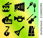 vector icon set  about music... | Shutterstock .eps vector #1118681096