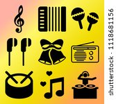vector icon set  about music... | Shutterstock .eps vector #1118681156