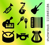 vector icon set  about music... | Shutterstock .eps vector #1118681186