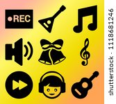 vector icon set  about music... | Shutterstock .eps vector #1118681246