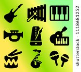vector icon set  about music... | Shutterstock .eps vector #1118681252