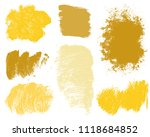 set of colorful ink vector... | Shutterstock .eps vector #1118684852